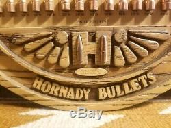 Vintage Hornady Bullet Board Cartridge Store Display Pristine Rifle Pistol Gun