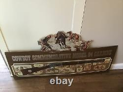 Vintage Winchester Cowboy Model 94 Carbine Store Sign Hunting Gun Rifle