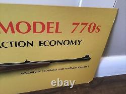 Vintage Winchester Model 770s Store Display Sign Hunting Gun Rifle Free Ship