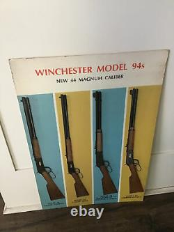 Vintage Winchester Model 94s Store Display Sign Hunting Gun Rifle 44 Magnum