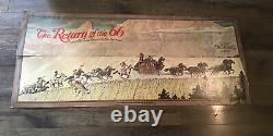 Vintage Winchester Norman Rockwell Stagecoach 1966 Store Sign Hunting Gun Rifle