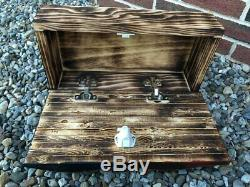 Waving American Flag Concealment Compartment Cabinet Hidden Gun Storage Box Case