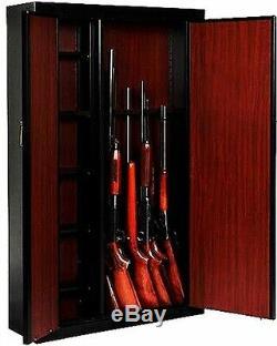 Woodmark 16 Gun Security Cabinet Metal Cabinet Key Lock Rifle Storage Safe New