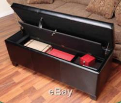 XL Gun Safe Fireproof Hidden Rifle Shotgun Pistol with Cushion Lock Storage Bench