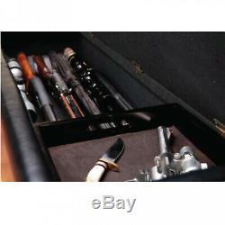 XL Gun Safe Fireproof Hidden Rifle Shotgun Pistol wth Cushion Lock Storage Bench
