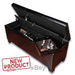 XL Gun Safe Storage Cushion Bench Lock Fireproof Hidden Rifle Shotgun Pistol NEW
