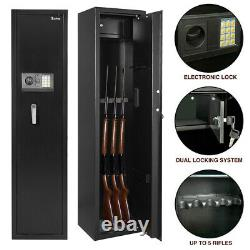 ZOKOP 5-Rifle Gun Safe Box Digital Storage Cabinet Security Guns Vault Firearm