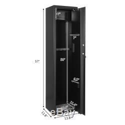 ZOKOP Digital Gun Safe Box 5-Rifle Firearm Storage Cabinet Black durability new1