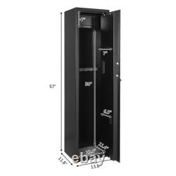 ZOKOP Digital Gun Safe Box 5-Rifle Shotgun Firearm Solid Steel Storage Cabinet
