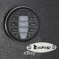 Zokop 57 5 Gun Rifle Storage Wall Safe Box Security Cabinet Electronic Lock